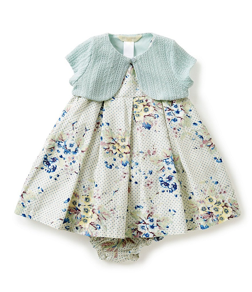 Laura Ashley London Baby Girls´ 12-24 Months 2-Piece Cardigan & Floral Dress Set