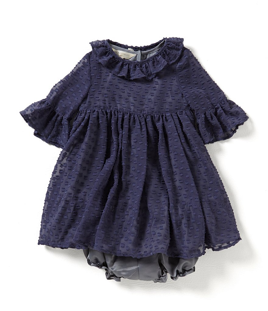Laura Ashley London Baby Girls´ 12-24 Months Dotted Chiffon A-Line Dress
