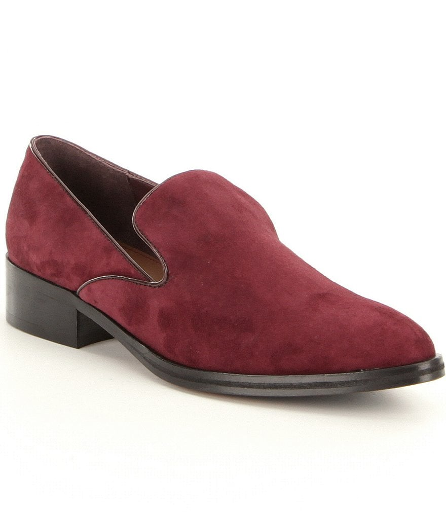 Donald J Pliner Galia Suede Slip-On Dress Loafers