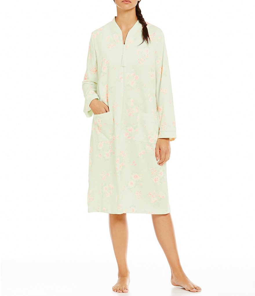 Miss Elaine Floral French Terry Robe