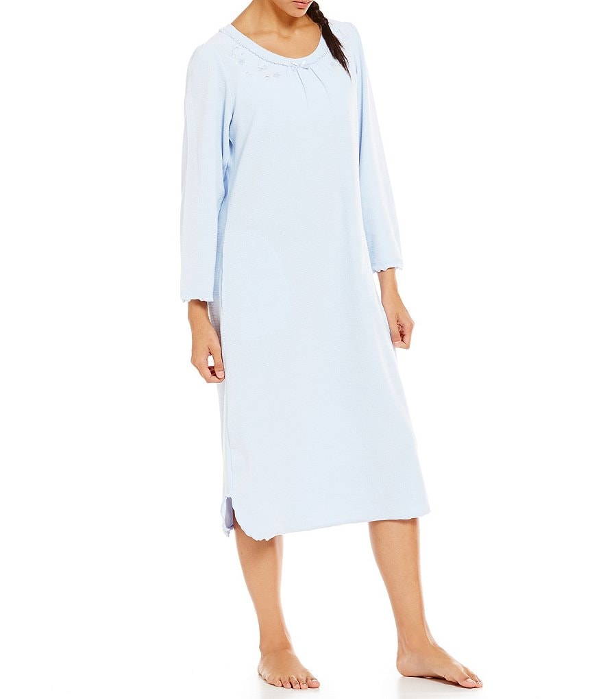 Miss Elaine Waffle-Knit Nightgown