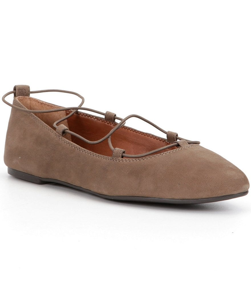 Lucky Brand Aviee Elastic Banded Suede Flats