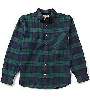 Woolrich Long-Sleeve Tall Pine Plaid Flannel Woven Shirt