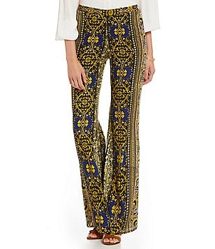Band Of Gypsies Paisley Stripe Palazzo Wide Leg Pant