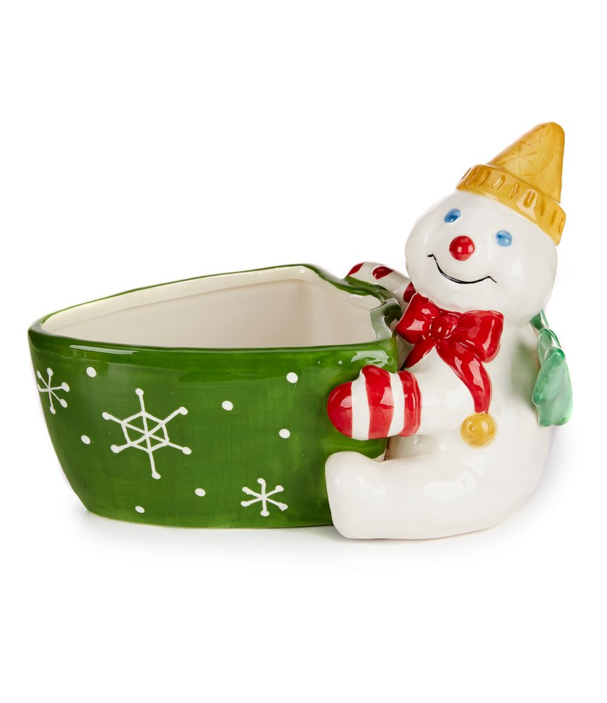 Noble Excellence Holiday Mr. Bingle Candy Dish