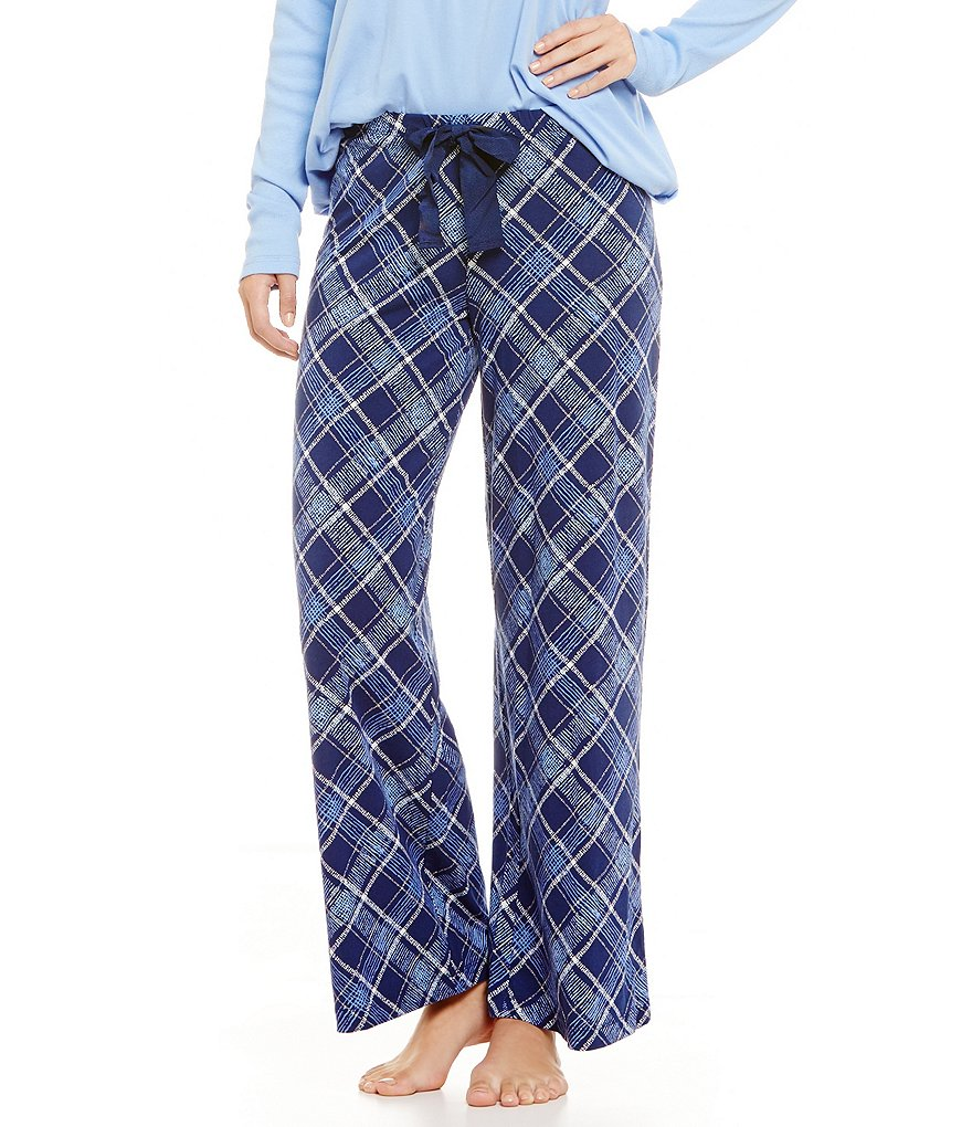HUEtopia Harmony Plaid Jersey Sleep Pants