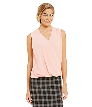 Alex Marie Romantic Semantics Casey Chiffon Knit Top