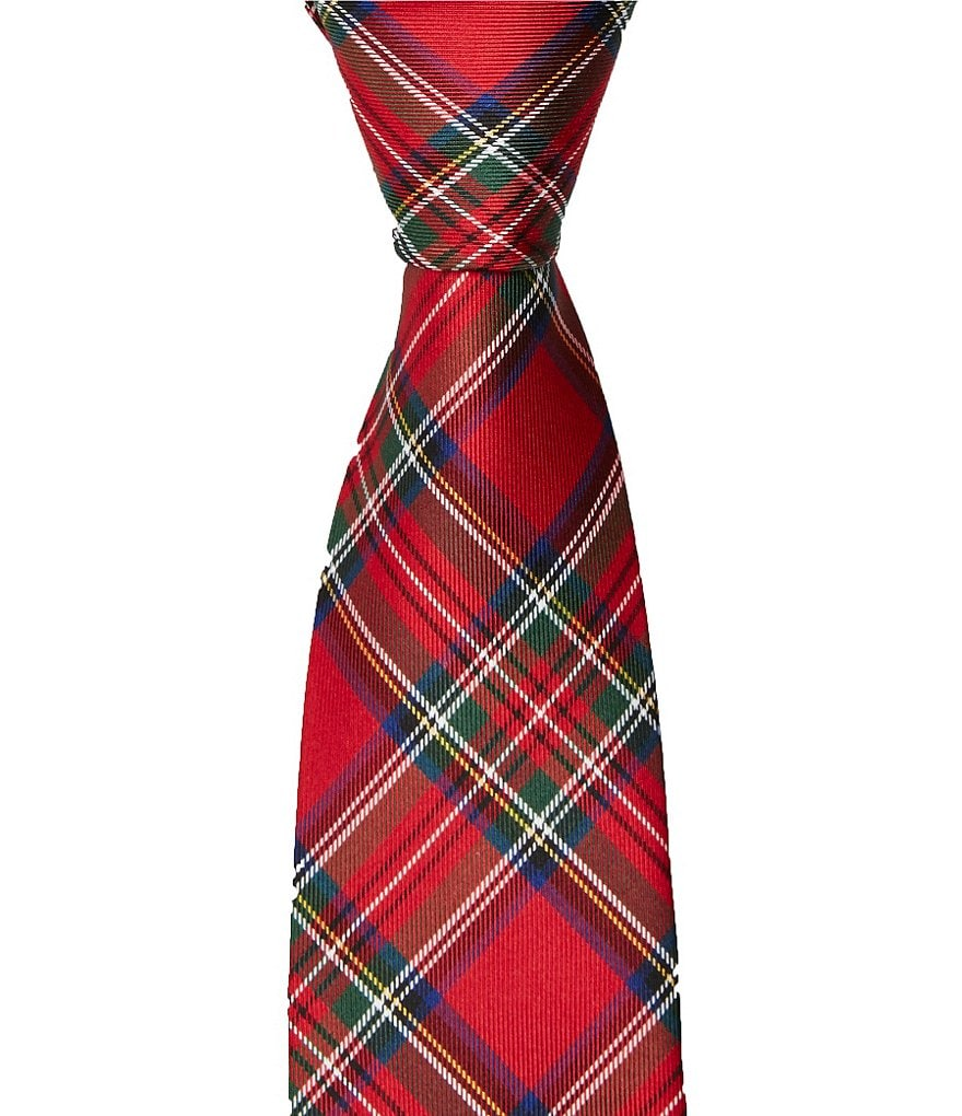 Class Club Plaid Silk Zipper Tie