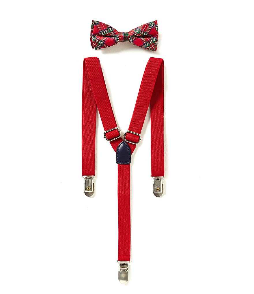 Class Club Plaid Suspender and Bow Tie Set