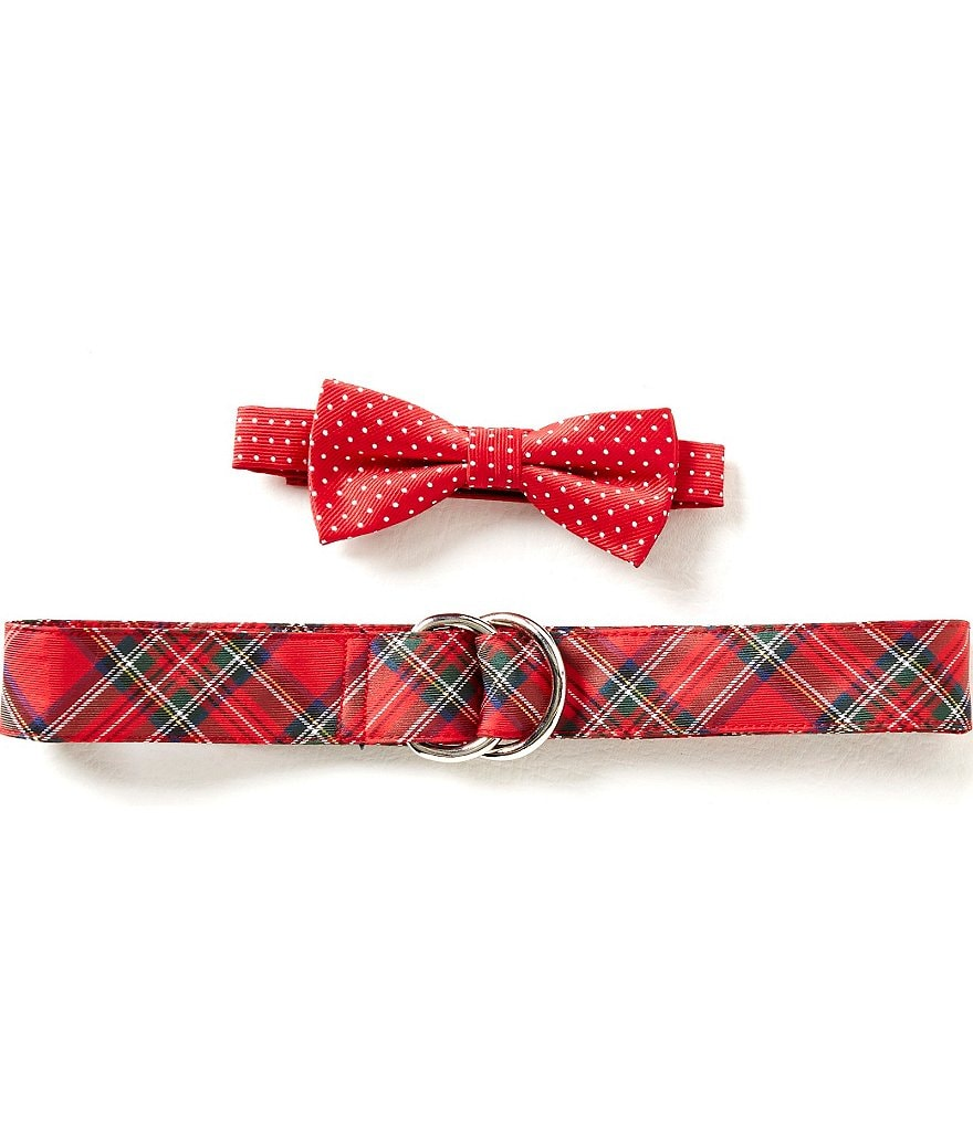 Class Club Plaid Belt and Bow Tie Set