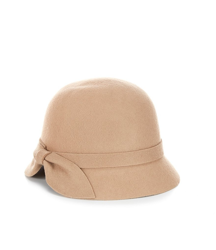 Kate Landry Bow-Back Wool Cloche