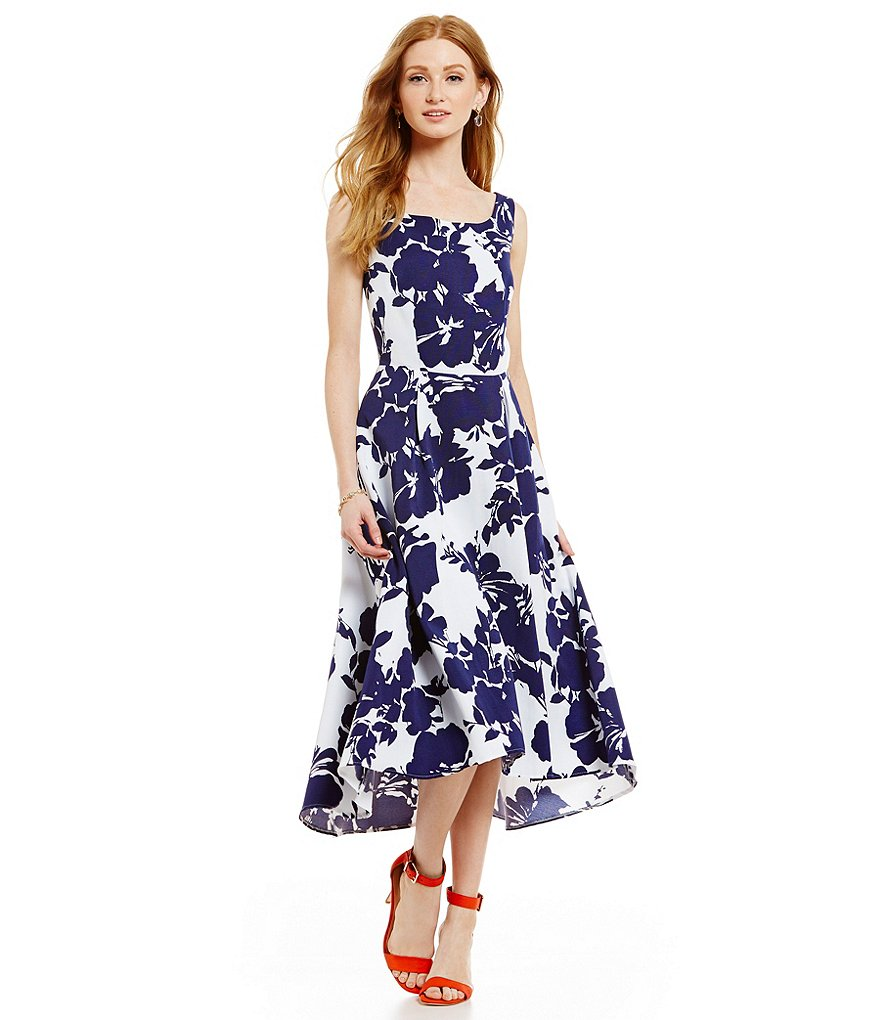 Katherine Kelly Jane Floral Hi-Low Midi Dress