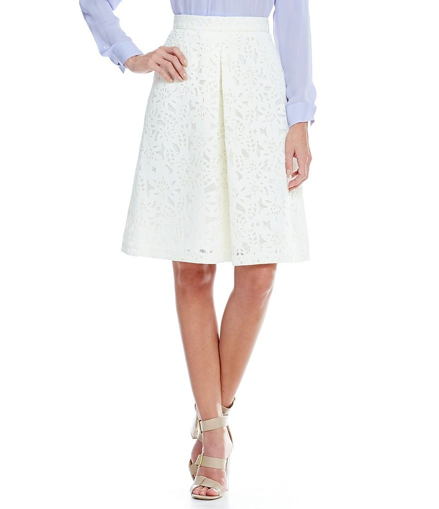 Katherine Kelly Dakota Scuba Lace Skirt