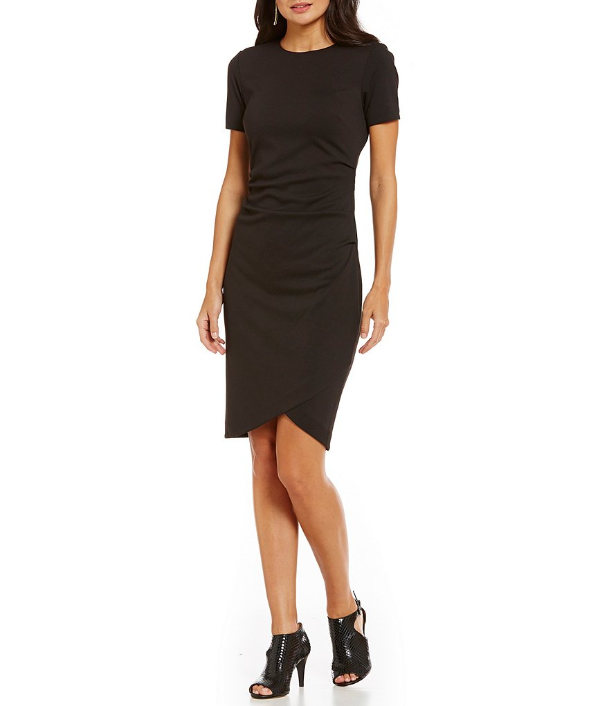 CATHERINE Catherine Malandrino Esmond Short Sleeve Side Ruched Dress