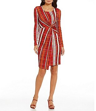 CATHERINE Catherine Malandrino Adele Scoop Neck Front-Knot Dress