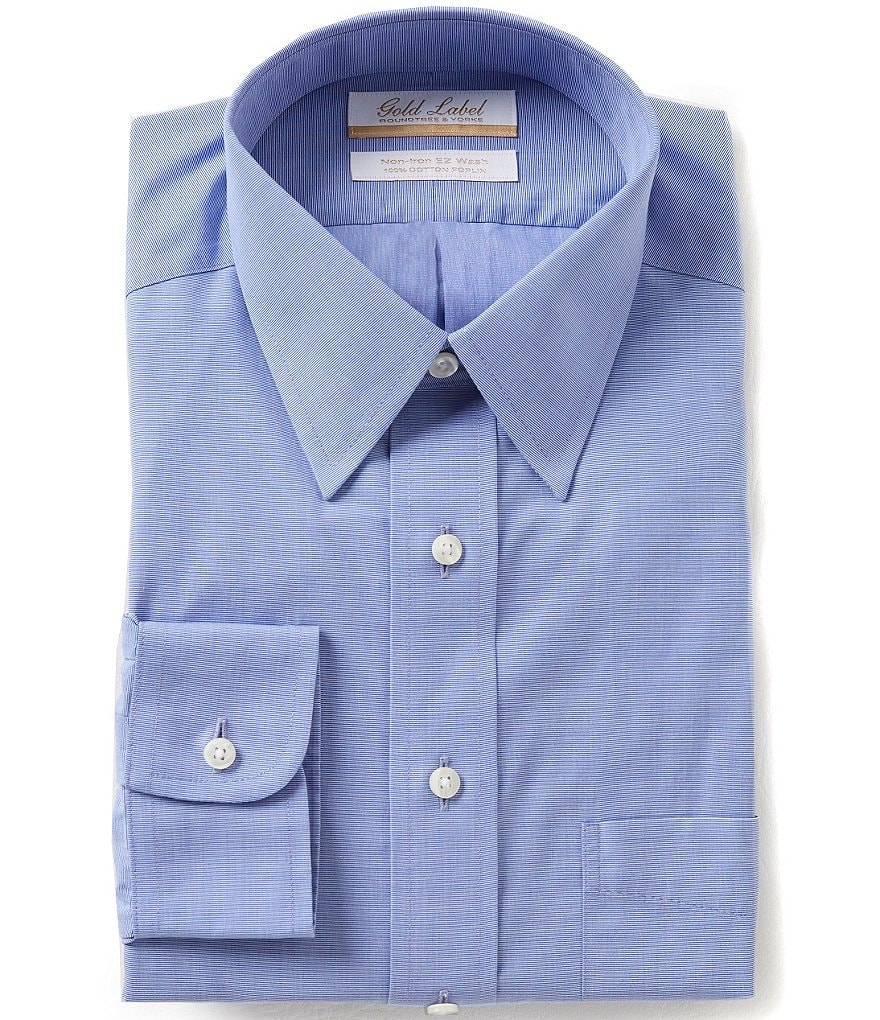 Gold Label Roundtree & Yorke Non-Iron Regular Full-Fit Point-Collar Dress Shirt