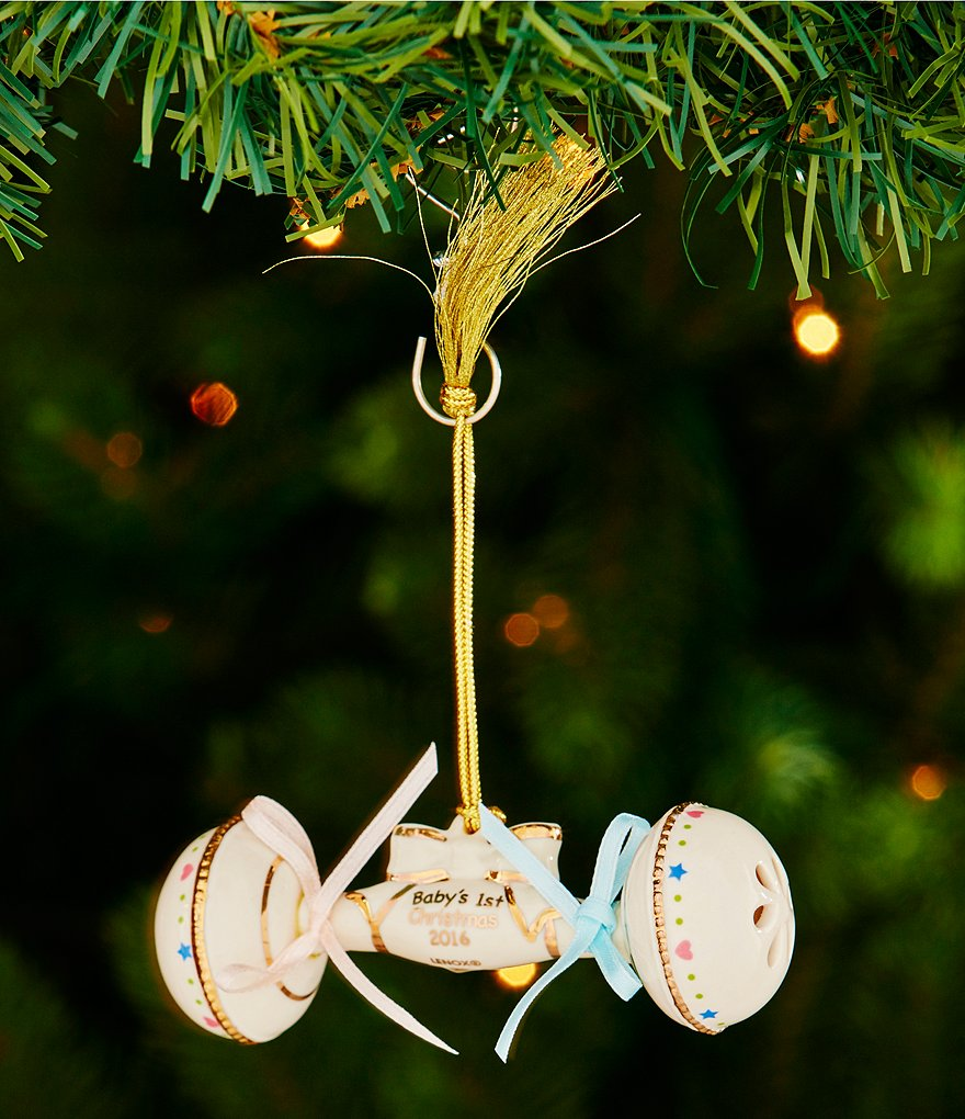 Lenox 2016 Baby Rattle Ornament