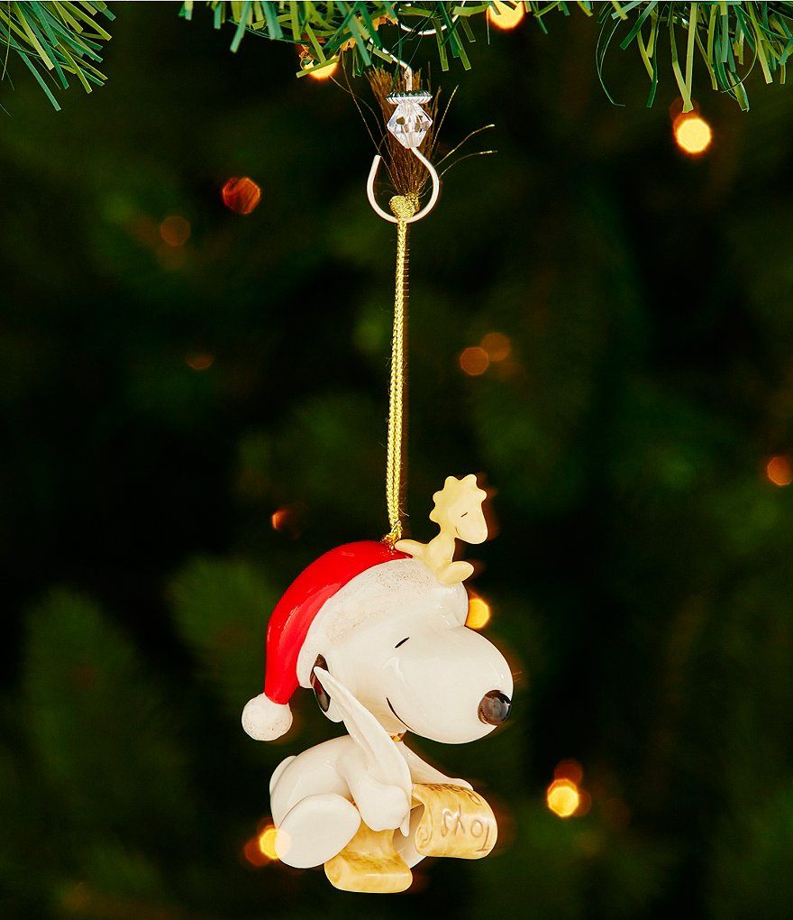 Lenox 2016 Snoopy´s List for Santa Porcelain Ornament
