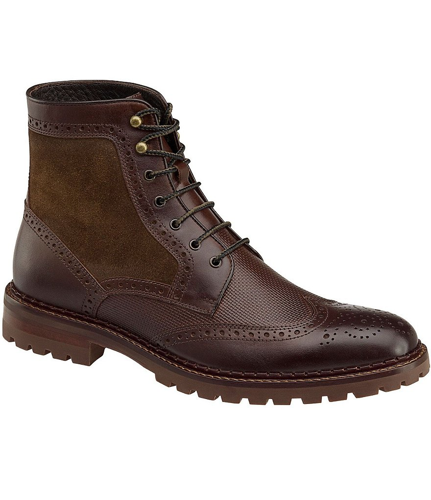J&M Est. 1850 Greer Wingtip Leather Boots