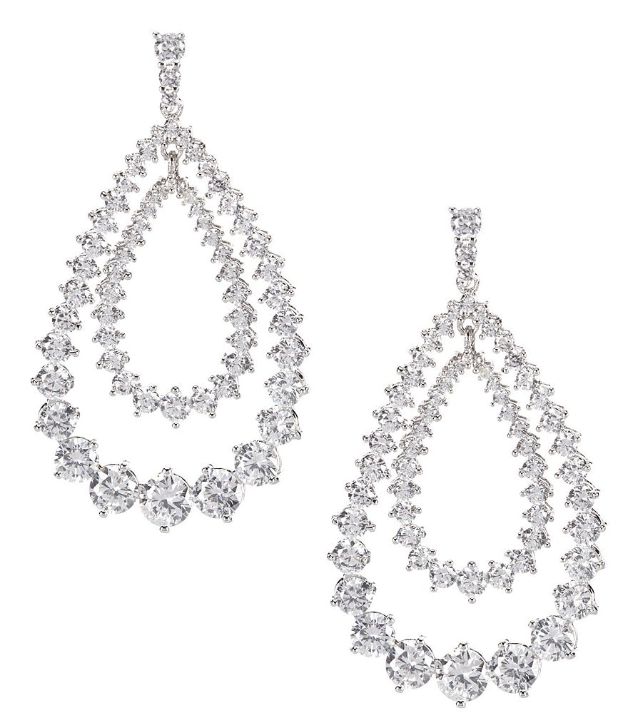 C by Cezanne Cubic Zirconia Teardrop Earrings