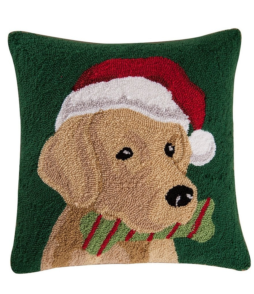 C & F Enterprises Yellow Labrador Hooked Canvas Pillow