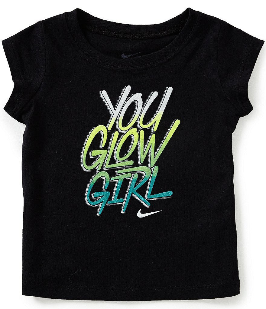 Nike Baby Girls 12-24 Months You Glow Girl Short-Sleeve Graphic Tee