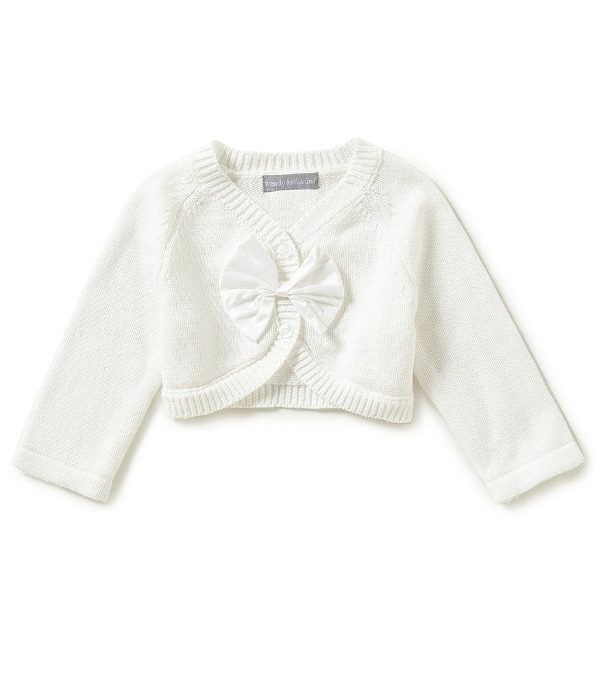 Wendy Bellissimo Baby Girls 3-24 Months Button-Front Bow Cardigan