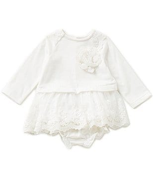 Wendy Bellissimo Baby Girls 3-24 Months Floral-Applique Ruffled Dress