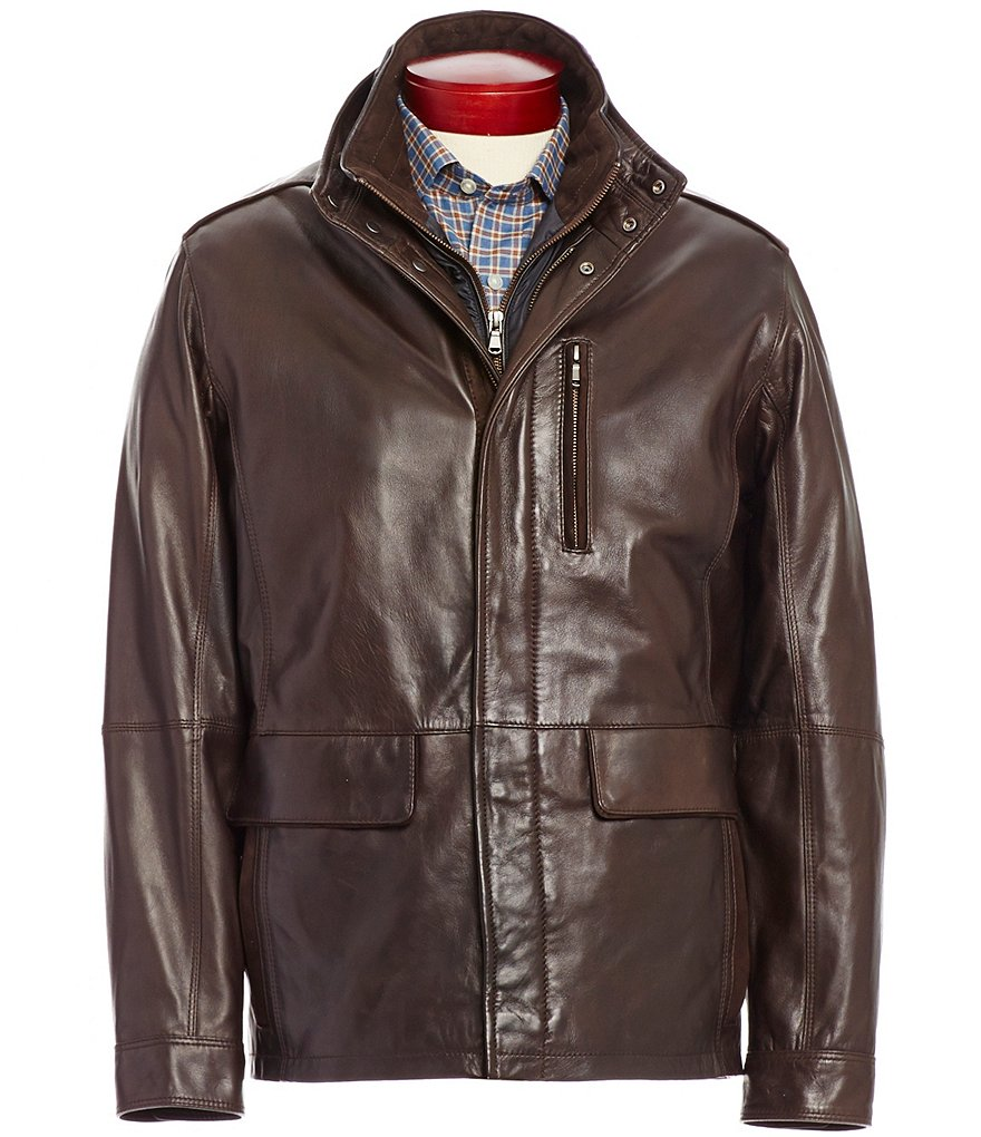 Daniel Cremieux Signature 3/4 Lamb Double-Collar Jacket