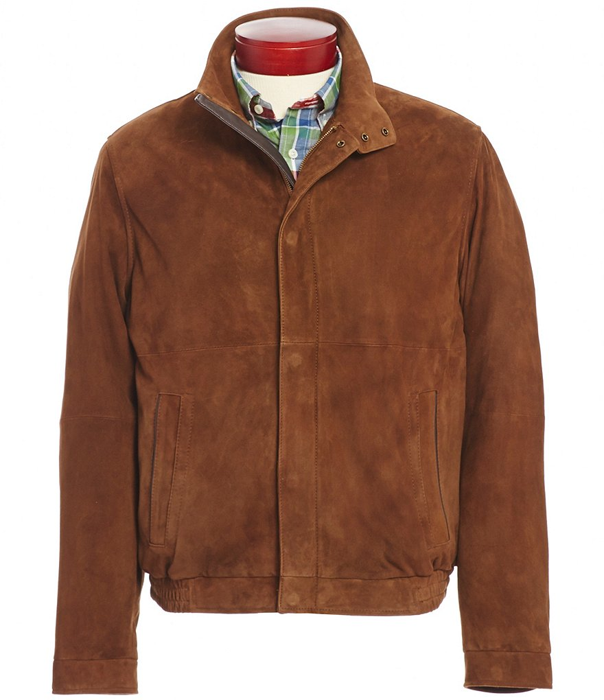 Cremieux Lightweight Suede Leather Bomber Jacket