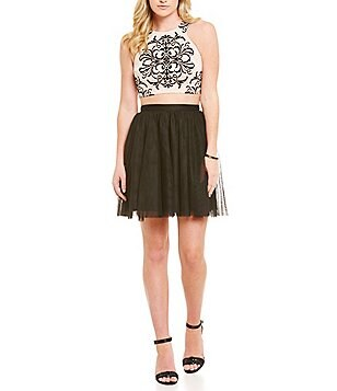 Blondie Nites Two-Piece Flocked Bodice Dress