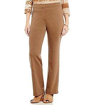Ruby Rd. Stretch Ponte Wide Leg Solid Pant