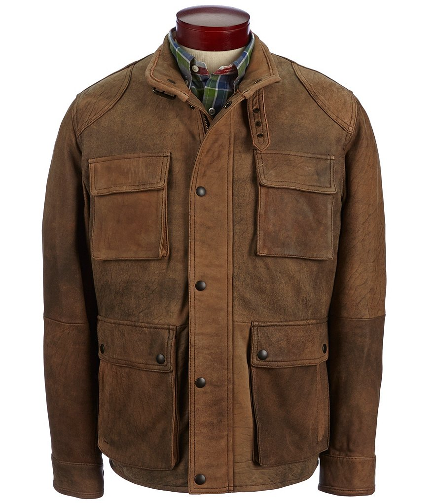 Cremieux Vintage Leather Field Jacket