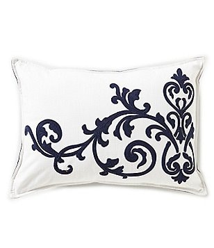 Southern Living Scroll-Embroidered Breakfast Pillow