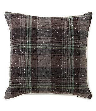 Cremieux Sullivan Plaid Diamond Quilted Square Pillow