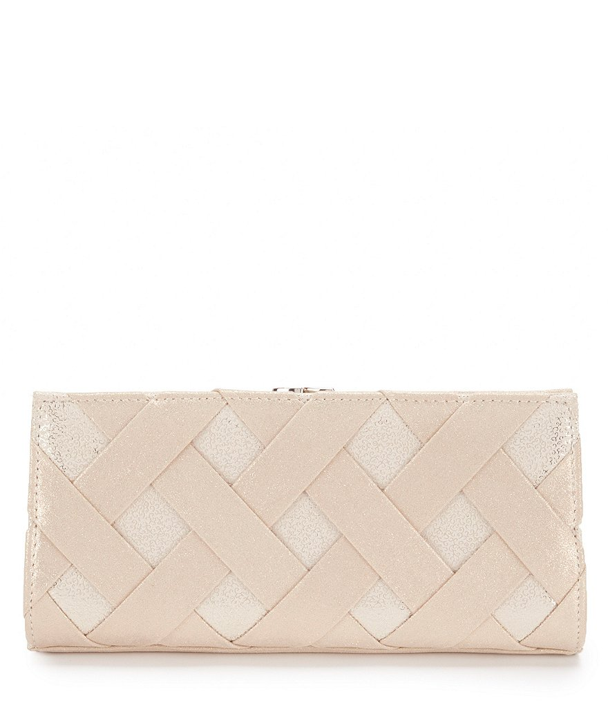 Kate Landry Lattice Frame Clutch