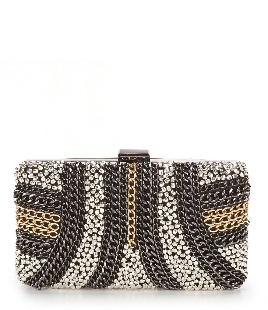 Kate Landry Chain Frame Clutch