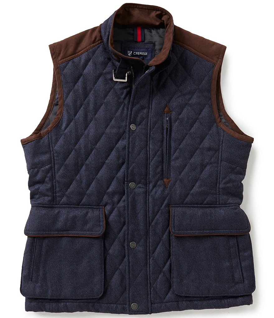 Cremieux Riley Wool Quilted Vest