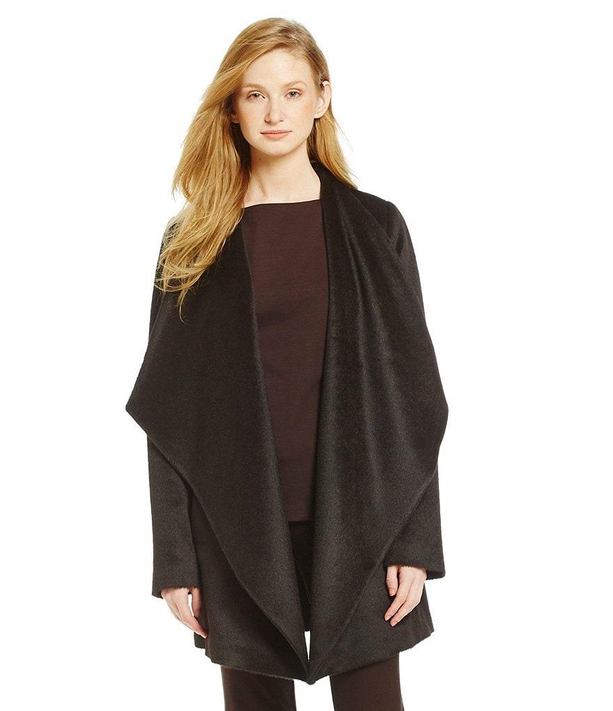 Eileen Fisher Drape Front Wool Jacket