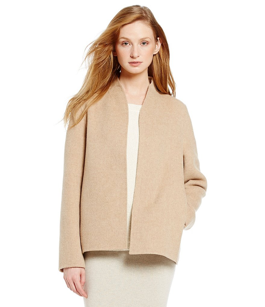Eileen Fisher High Collar Wool Jacket