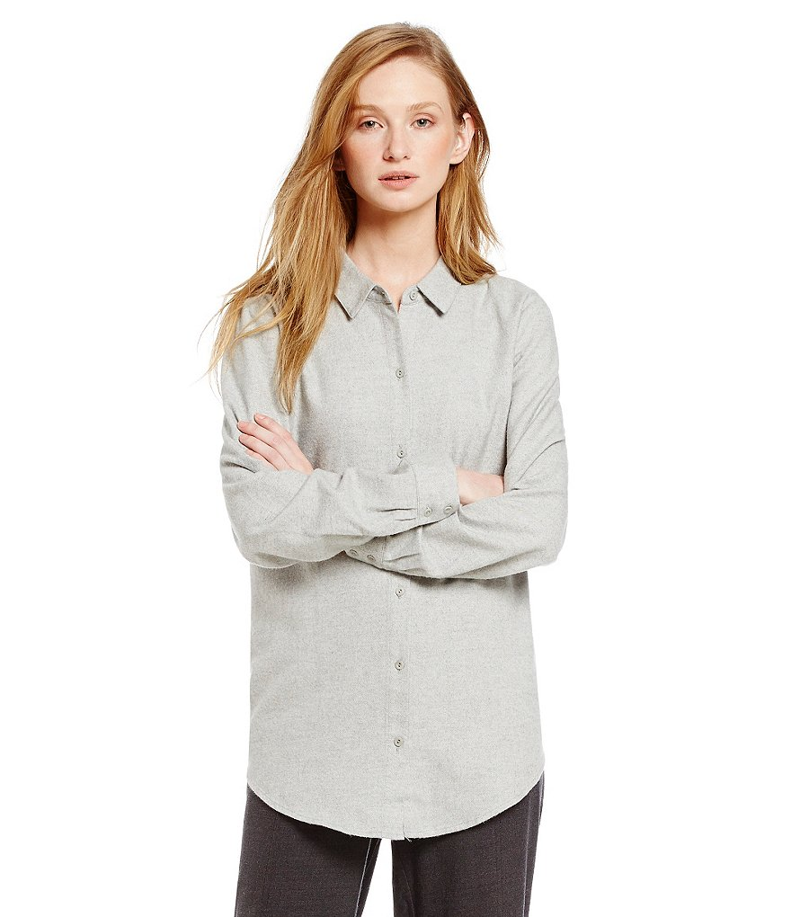 Eileen Fisher Classic Collar Long Sleeve Shirt