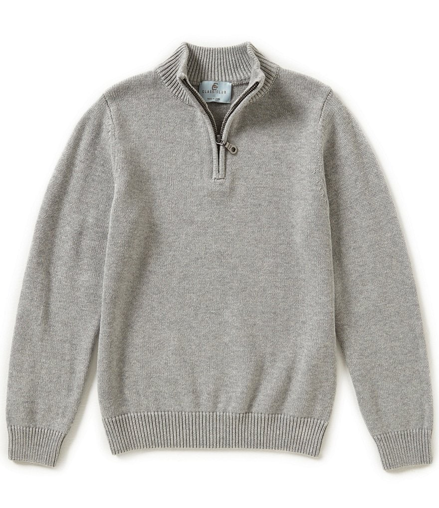 Class Club Big Boys 8-20 1/4 Zip Pullover Sweater