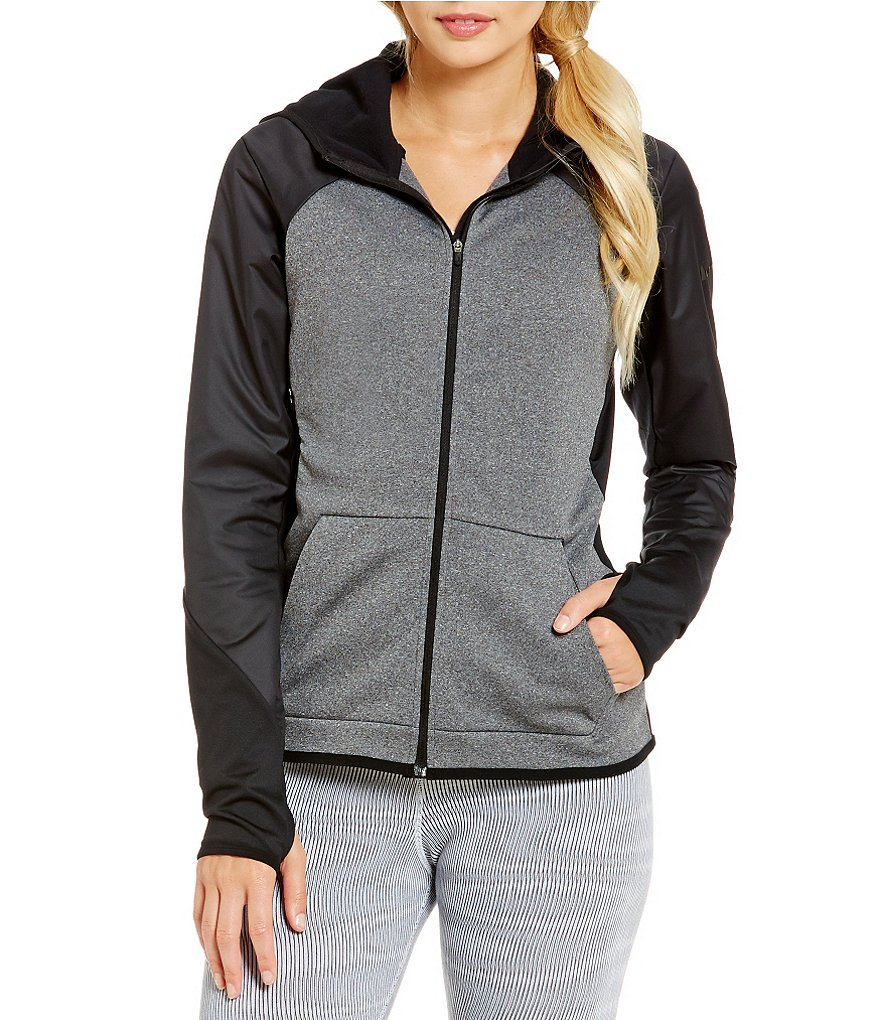 Nike Therma-FIT Front Zip Woven Overlay Hoodie