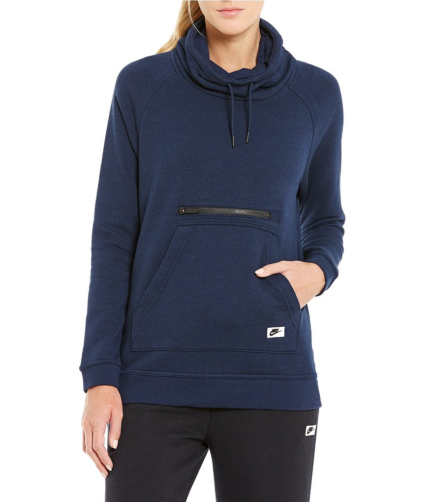 Nike Modern Funnel French Terry Raglan Sleeve Pullover