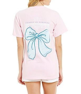 Lily Grace Classy Is Forever Bow Tee
