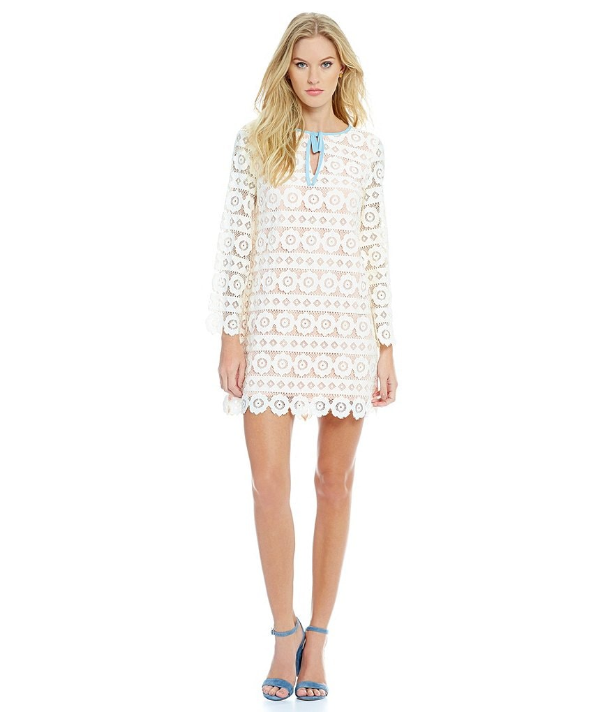 Juicy Couture Swedish Floral Lace Shift Dress