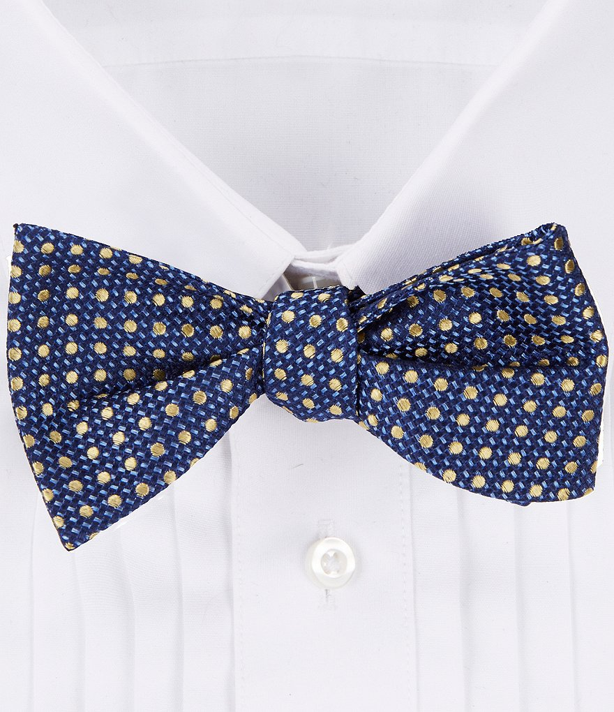 Cremieux Top Dotted Silk Bow Tie