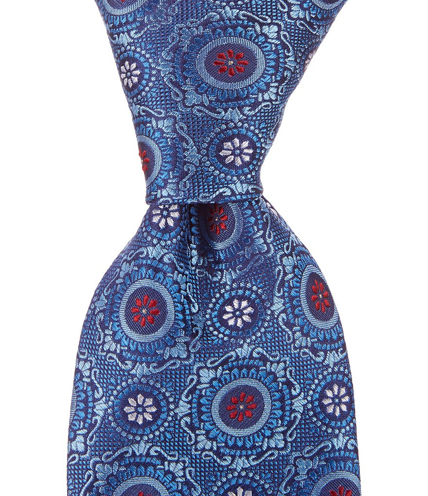Cremieux Deco Medallion Traditional Silk Tie