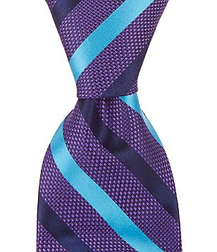 Cremieux Cross Stripe Traditional Silk Tie
