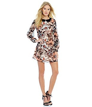 Juicy Couture Stockholm Long Sleeve Floral Dress